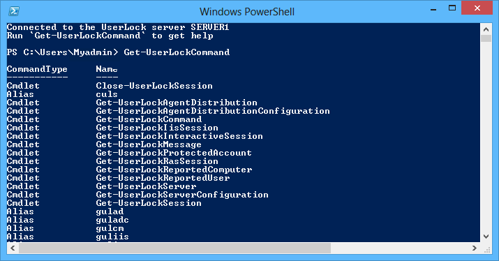 PowerShell UserLock Command