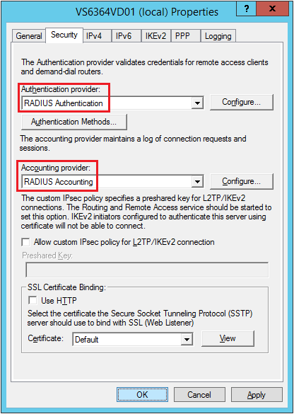 configure VPN server