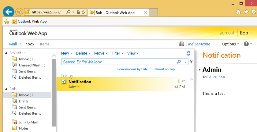 email box outlook web access force isapi filter