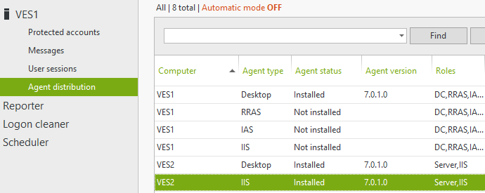 installed IIS agent