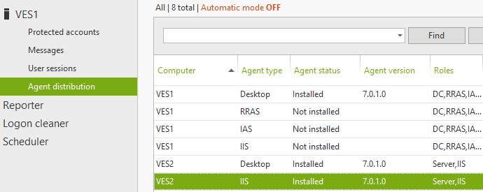 installed IIS agent