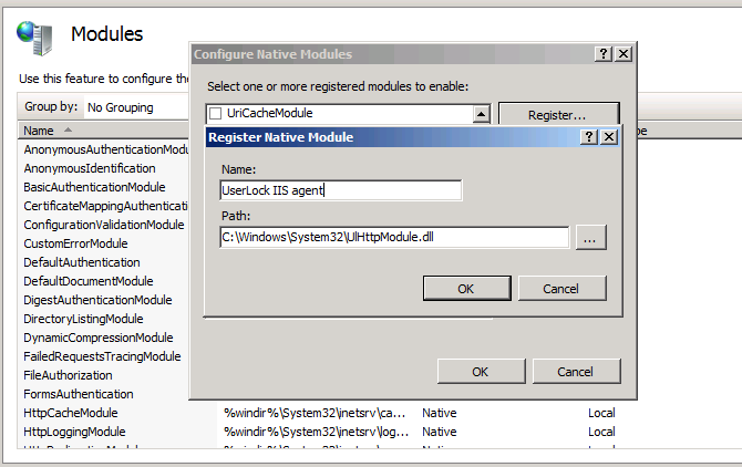 configure native modules select path