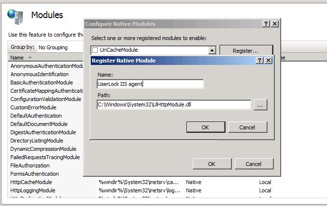 configure native modules select path