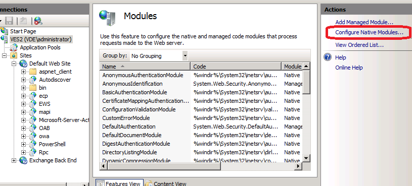 Configure native modules