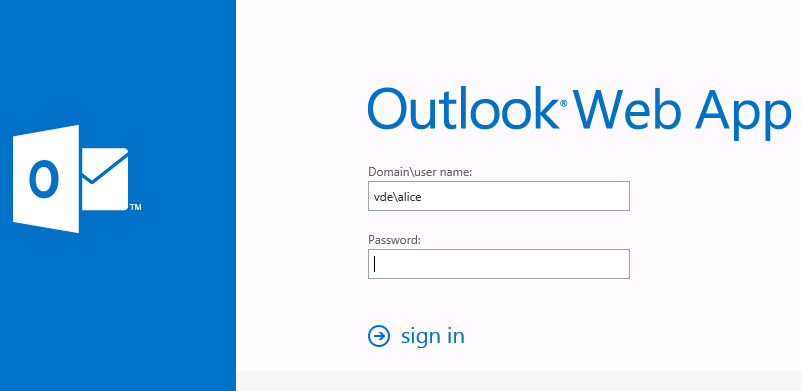 outlook web access logon page