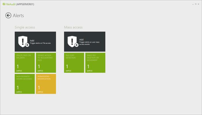 windows file server mass access alerts
