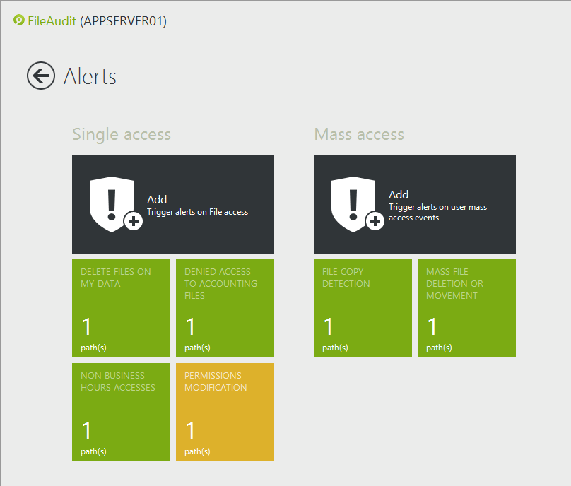 detect alert windows file changes
