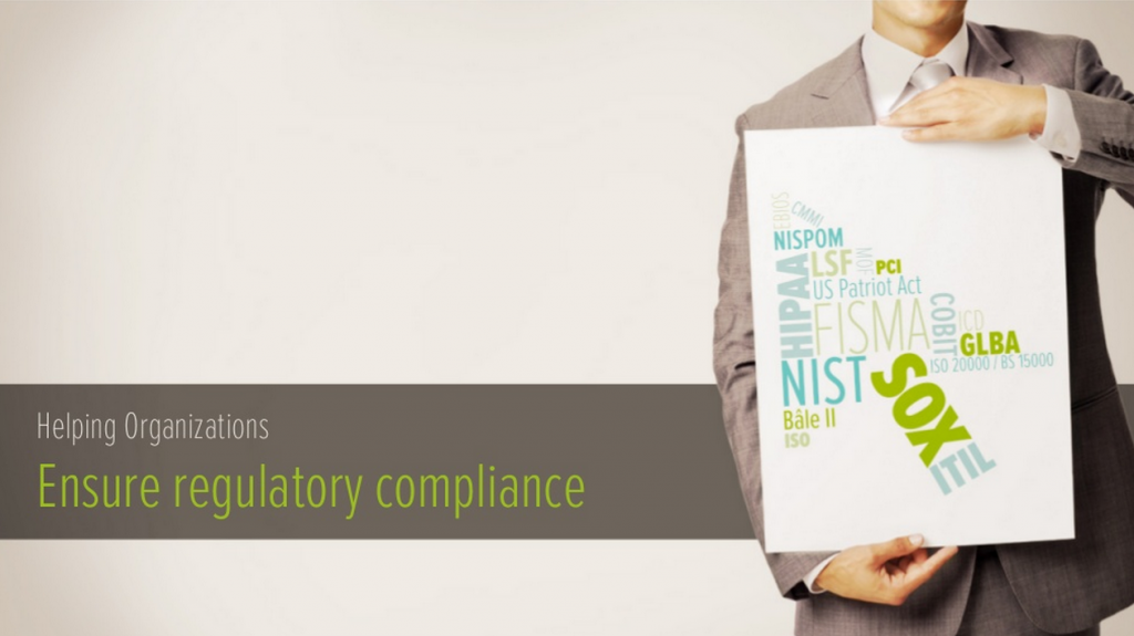 helping organizations ensure regulatory compliance