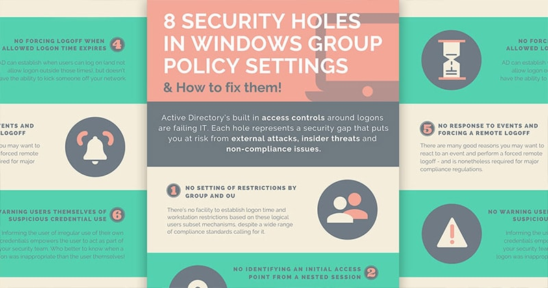 8 security holes in Windows group policy settings
